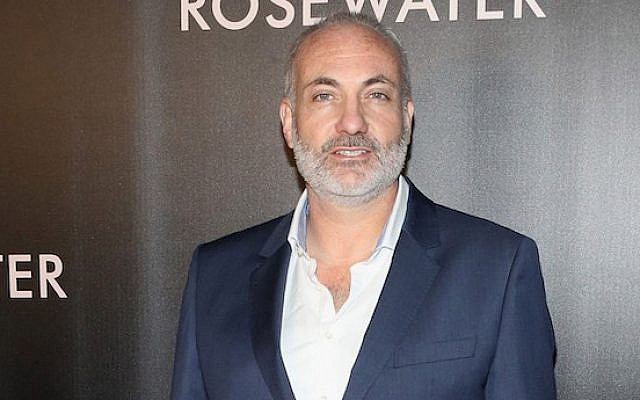 "Kim Bodnia at the New York City premiere of the film ""Rosewater,"" Nov. 12, 2014. (Robin Marchant/Getty Images via JTA)"