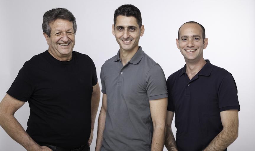 (L to R) Ido Manor, Lighthouse CEO; Amos Talmor, Lighthouse Chairman; Sasi Geva, Partner and investor (Roni Perl)