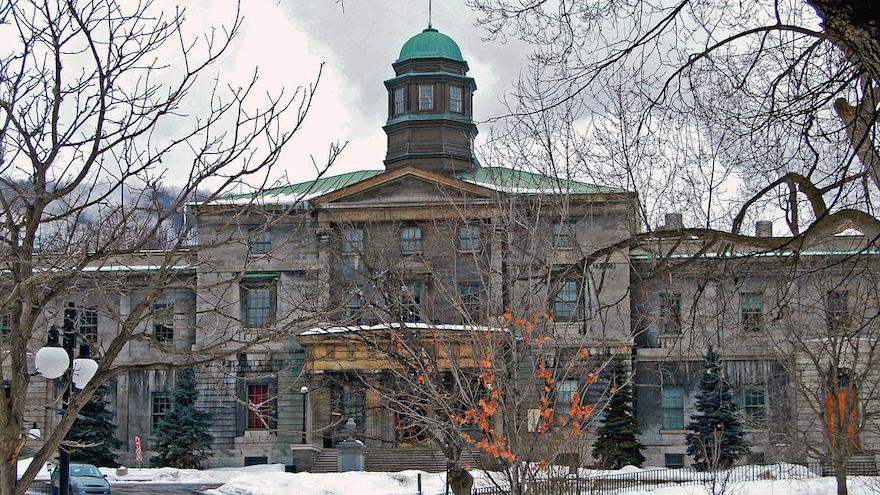 The Arts Building at McGill University in Montreal, Canada. (Wikimedia Commons via JTA)