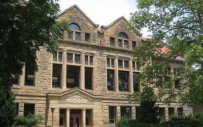 File: The Carnegie Building on the Oberlin College campus in Ohio. (Wikimedia Commons)