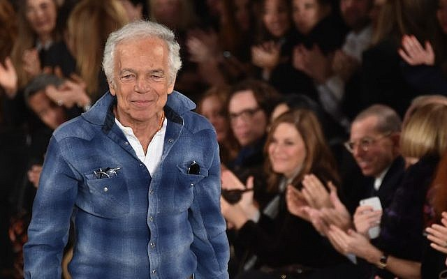 Ralph Lauren at his fashion show during Mercedes-Benz Fashion Week 2015 in New York City, Feb. 19, 2015. (Mike Coppola/Getty Images for Mercedes-Benz Fashion Week/JTA)