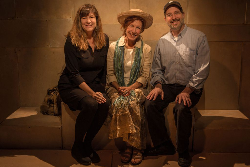 From left to right, producer Ronda Spinak, actor Lisa Robins and playwright/director Todd Salovey (Photo by Zachary Andrews)