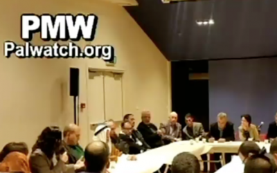 Israeli Arab MKs meet with families of Palestinian terrorists, February 2, 2016 (Palestinian Media Watch)