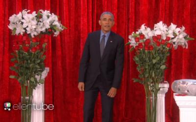 President Barack Obama delivers a Valentine's Day message to wife Michelle, January 12, 2016. (EllenTV screenshot)
