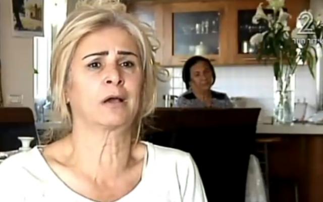 Yafah Pinhasi, sister of Eliyahu Amedi (Channel 2 screenshot)