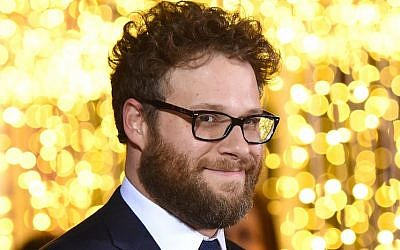 Seth Rogen attending the premiere of 'The Night Before' in Los Angeles, November 18, 2015. (Jason Merritt/Getty Images/JTA)