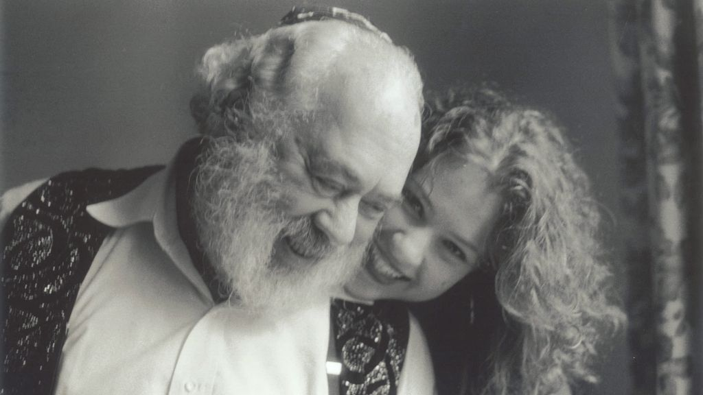 The 'Singing Rabbi' Shlomo Carlebach and daughter Neshama. (courtesy)