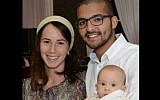Tuvia Yanai Weissman with his wife Yael and four-month-old daughter. Weissman was stabbed to death by Palestinian terrorists at a West Bank supermarket on February 18, 2016. (Facebook)
