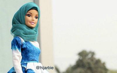 'Hijarbie' is a Barbie doll dressed in modest Muslim fashion by Haneefa Adam. (Instagram)