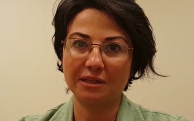 Balad MK Hanin Zoabi criticizes the Knesset's Ethics Committee decision to remove her from Knesset in a clip she released on February 8, 2016. (Screen capture)