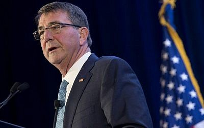 US Secretary of Defense Ashton Carter speaks at The Economic Club of Washington in Washington, DC, February 2, 2016. (AFP/Saul Loeb)