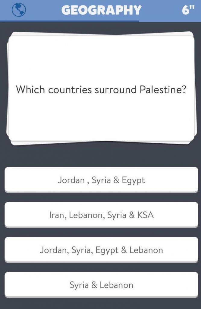 The offending question (screenshot)