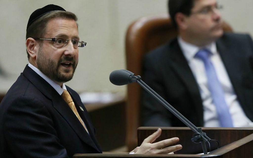 MK Dov Lipman in the Knesset, March 6, 2013. (Miriam Alster/Flash90)