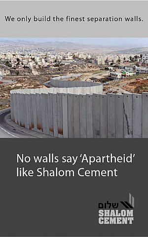 A screenshot of an ad featured in a fake, anti-Israel edition of the New York Times distributed in New York City on February 2, 2016.
