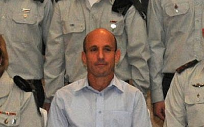 Ofir Shoham posing at a ceremony in 2012. (Flash90