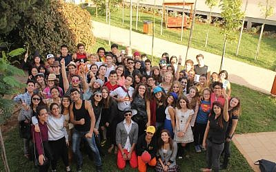 Students at the EMIS School in Ramat Hasharon (Courtesy)