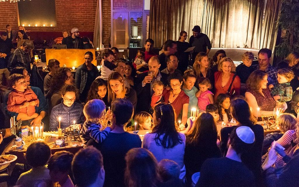 A Hanukkah celebration at The Kitchen in San Francisco on December 9, 2015. (Q Lam)