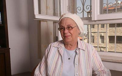 Libby Kahane, wife of the slain extremist Rabbi Meir Kahane, now has a grandson in prison for heading an extremist group. (Courtesy of Libby Kahane)