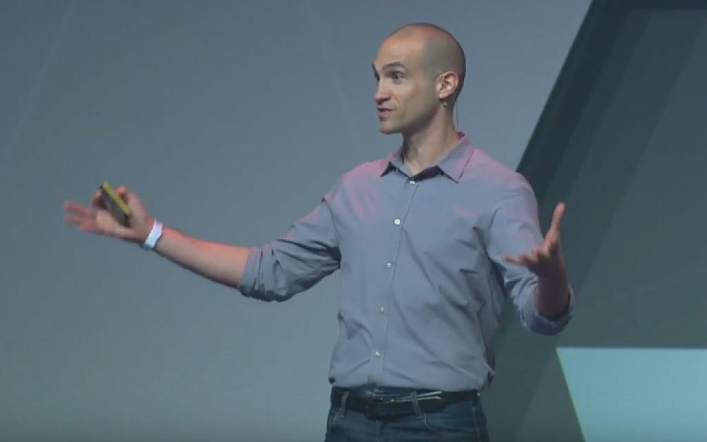 Israeli-American author and educator Nir Eyal (screen capture: YouTube)
