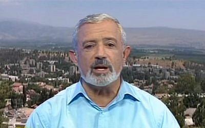 Kiryat Shmona Mayor Nissim Malka (YouTube screen capture)