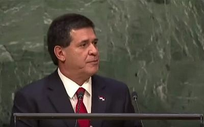 Paraguay President Horacio Cartes (YouTube screenshot)