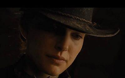 """Natalie Portman in """"Jane Got a Gun."""" (YouTube screenshot)"""