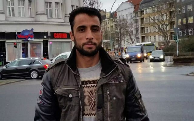 Mustafa Said, 31, of Baglan, Afghanistan, now lives in Berlin (Raphael Ahren/TOI)