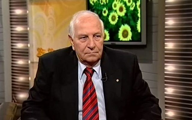 Sam Ben Shitrit, founder and chairman of the World Federation of Moroccan Jews in a television interview in 2012. (Screenshot from YouTube)