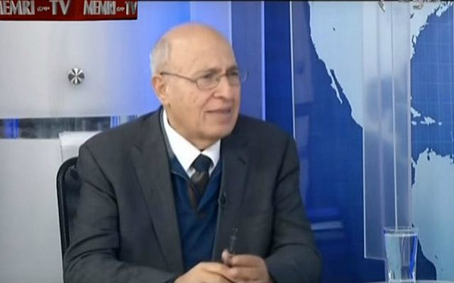 Former Palestinian negotiator Nabil Shaath in a 2016 interview with the Palestinian Authority's Awdha TV. (Screen capture/YouTube/MEMRI)