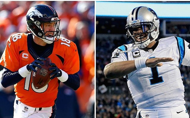 Peyton Manning (left) and Cam Newton are set to face off in Super Bowl 50 on Sunday, February 7, 2016. (Christian Peterson/Mike Ehrmann/Getty Images)