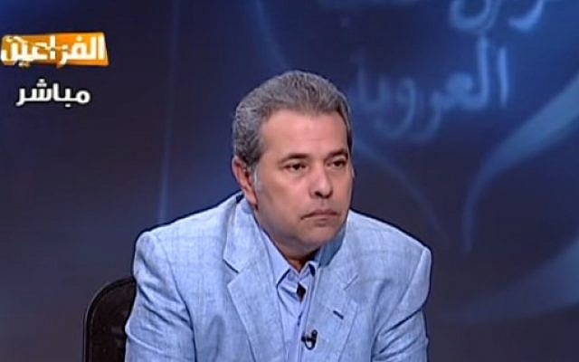 Egyptian television host and parliament member Tawfiq Okasha (YouTube screen capture)