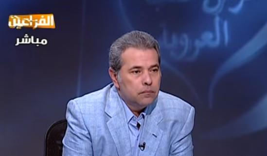 Egyptian television host and parliament member Tawfiq Okasha (YouTube screen capture)
