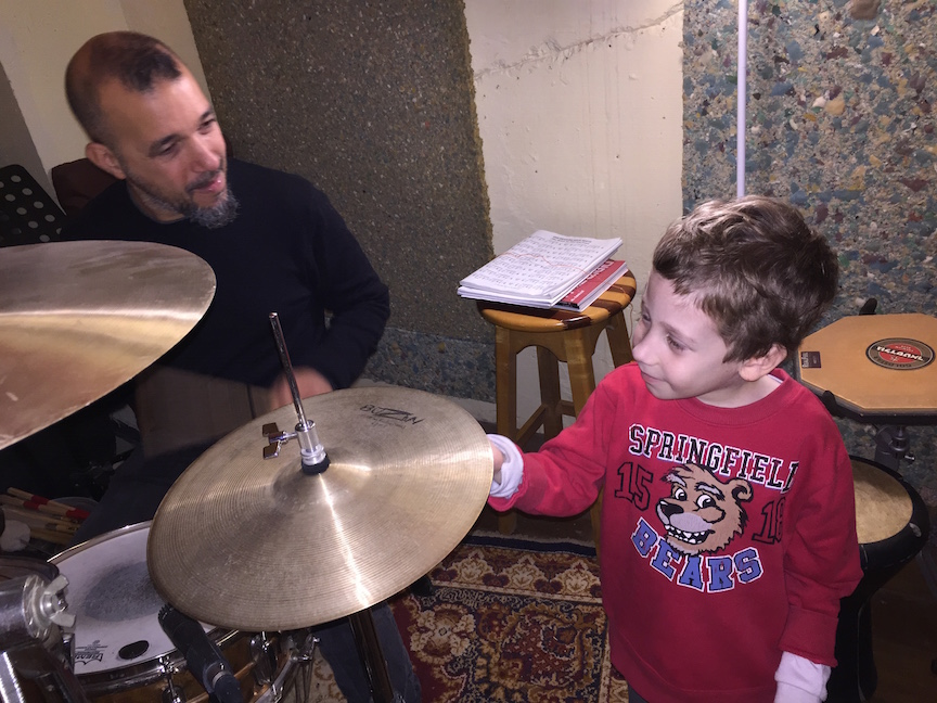Tommy and Israelii rock legend Iggy Dayan (Courtesy Traitel Family)