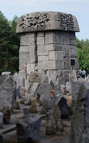 A memorial at modern day Treblinka. (Judah Ari Gross/The Times of Israel)