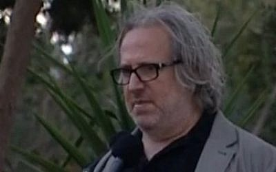 Israeli film director Udi Aloni (Channel 10 news)