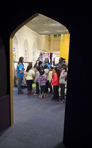 Children spend time in an exhibit about the Islamic world called 'America to Zanzibar' at the Children's Museum of Manhattan on February 24, 2016 in New York. (AFP/Don EMMERT)