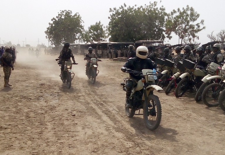 Image result for Troops neutralise bike-riding Boko Haram fighters