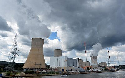 Nuclear power plant in Tihange, Belgium, on August 20, 2014. (AFP/Belga/Eric Lalmand, File)