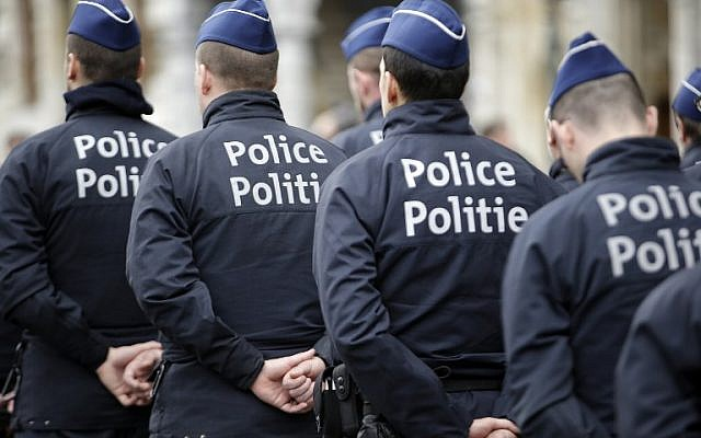 Illustrative. Belgian police officers standing guard at the Grand Place in Brussels on March 23, 2016. (AFP/Kenzo Tribouillard)