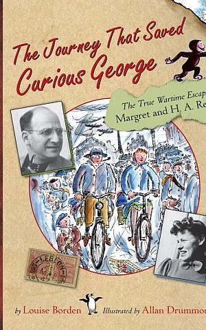 Cover of 'The Journey That Saved Curious George' by Louise Borden. (Houghton Mifflin Harcourt)