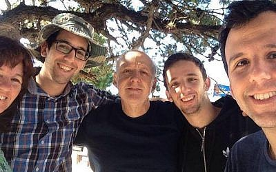 David Fremd, center, was stabbed to death in a suspected anti-Semitic attack in Paysandu, Uruguay, on March 8, 2016. (Facebook)