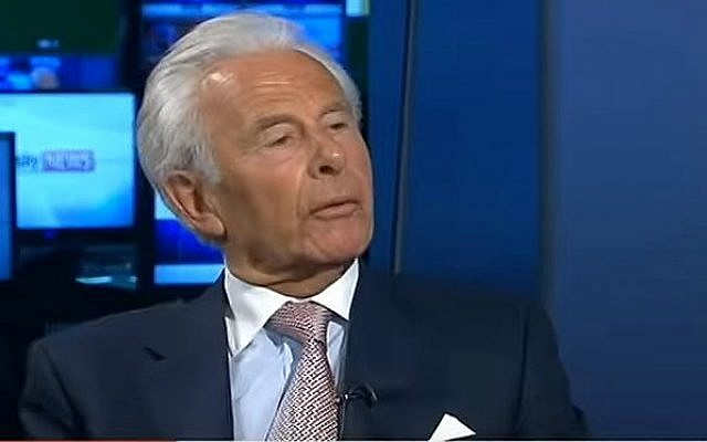 Lord Levy, former chief fundraiser of the Labour Party in Britain (screen capture: YouTube)