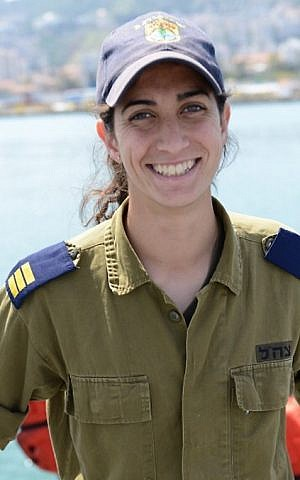 Cpt. Or Cohen, who was named the first female commander of an Israeli Navy vessel in November 2014. (IDF Spokesperson's Unit)