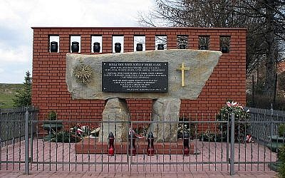 Monument to the Ulma family, executed by the Nazis in 1944 for sheltering Jews in the Polish village of Markowa. (Wojciech Pysz)