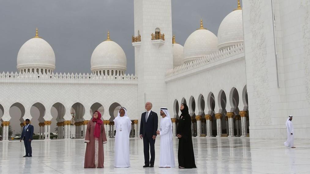 U.S. Vice President Joe Biden visits the Sheikh Zayed Grand Mosque in Abu  Dhabi, United