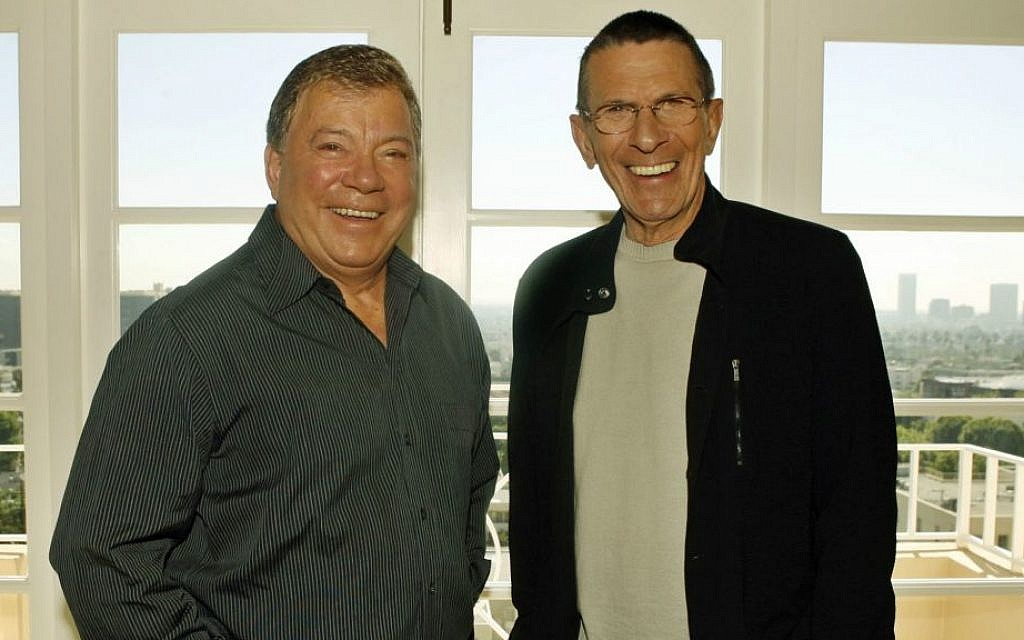Leonard Nimoy, right, and William Shatner pose Wednesday, Aug. 9, 2006, in Los Angeles. (AP Photo/Ric Francis)