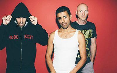 The members of Balkan Beat Box, Tamir Muskat, Tomer Yosef and Ori Kaplan (Courtesy Orit Pnini)