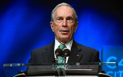 Former New York Mayor Michael Bloomberg speaks during the C40 cities awards ceremony in Paris, France. Dec. 3, 2015, (AP Photo/Thibault Camus, File)