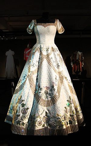 Coronation gown made by Angels Costumiers and worn in the forthcoming TV show 'The Crown.' (courtesy)