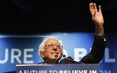 Democratic presidential candidate, Sen. Bernie Sanders, I-Vt. acknowledges applause at a campaign stop, Wednesday, March 2, 2016, in Portland, Maine. (AP Photo/Robert F. Bukaty)